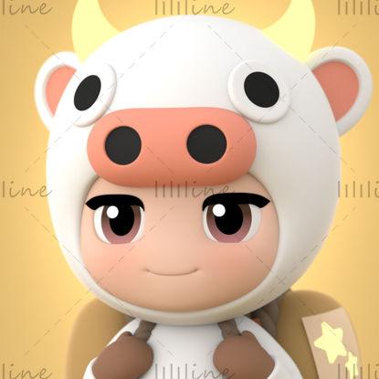 Hello Lucky Cow 3d model