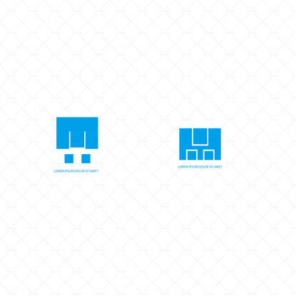Square logo template