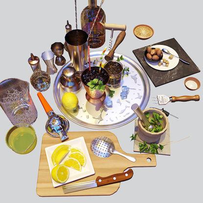 Cocktail Set Mint Julep 3d model