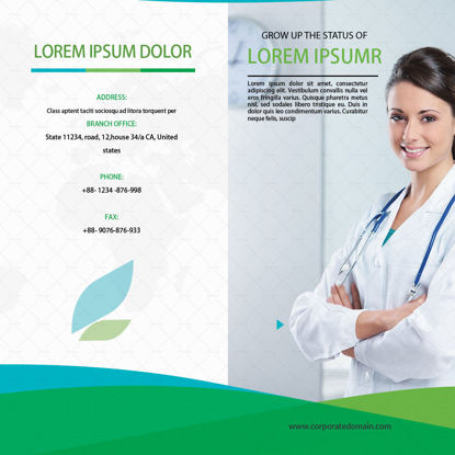 Medical promotion tri-fold template