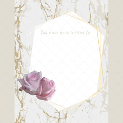 Party invite template gold