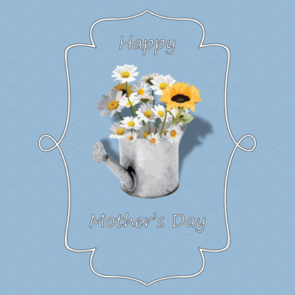 Mothers day front card illustration