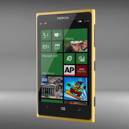 Nokia Lumia 1020 original scale 3D model