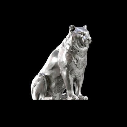A statue of a tiger 3d print model