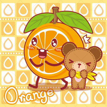Cartoon fruits, cartoon bears, Xiong Ganbao, illustration vector eps