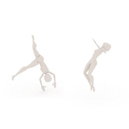 Turn Cartwheel Somersault bip 3ds Max Motion
