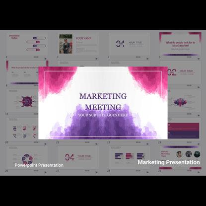 Marketing Meeting Power Point Presentation Template