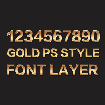 Gold PS Style Font Layer