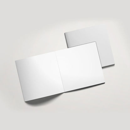square brochure catalogue mockup PSD 011