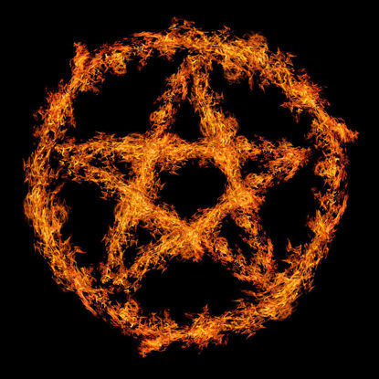 Five-pointed Star Fire in Circle