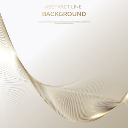 Abstract Line Golden Background Vector