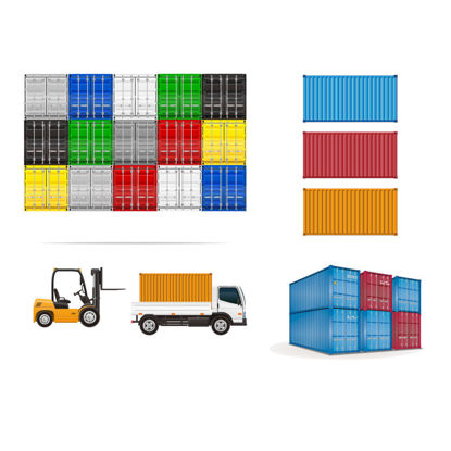 Containers Storage Yard Graphic AI Vector