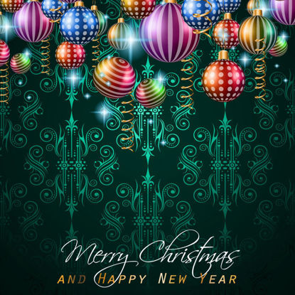 Christmas New Year Decorative Background AI Vector