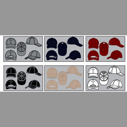 Baseball Cap Collection AI Vector