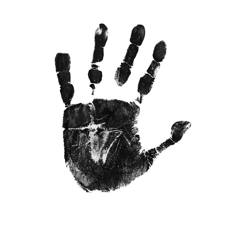 Hand Palm Graphic AI Vector