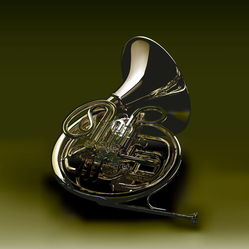 Musical Instrument Horn Graphic AI Vector