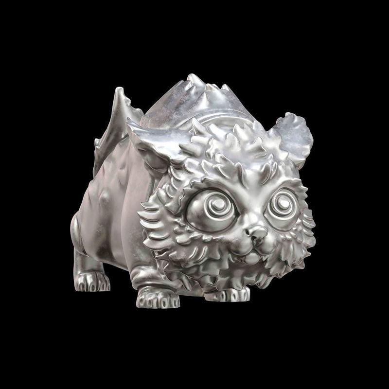 A cat figurine 3D print model