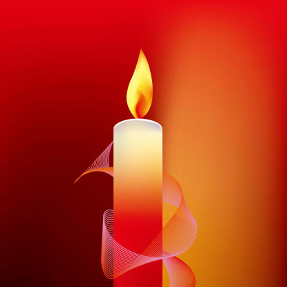 Photorealistic Candle Light Red Background Graphic AI Vector