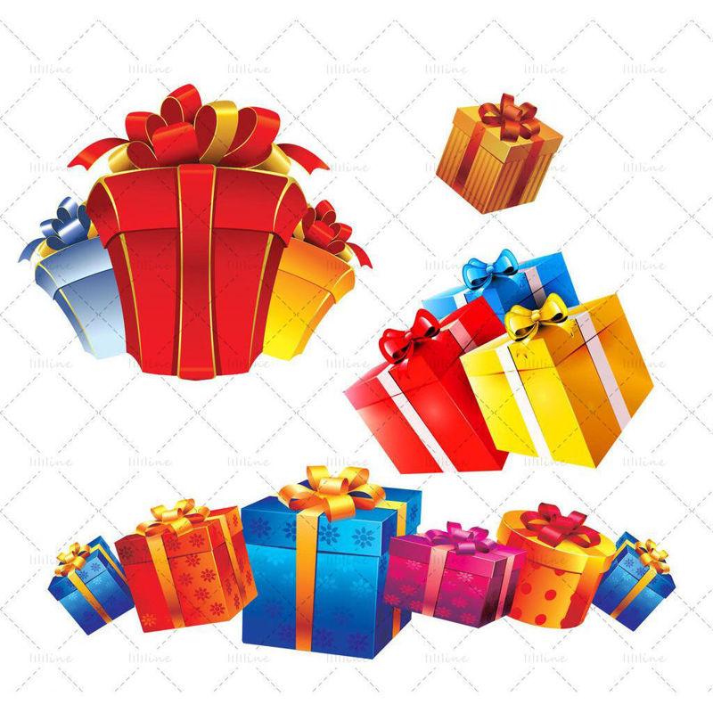 Christmas Elements psd gift box