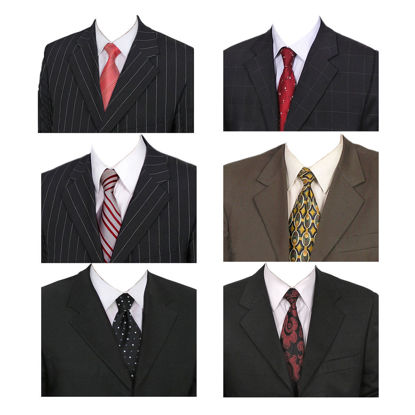 9 male suits id photo template mockups psd