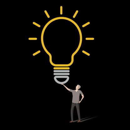 Bulb Idea AI Vector