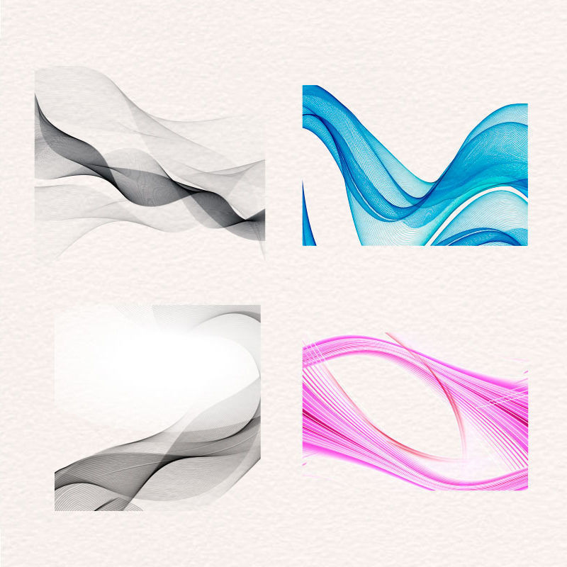 Colourful Curving Graphic Design AI Vector
