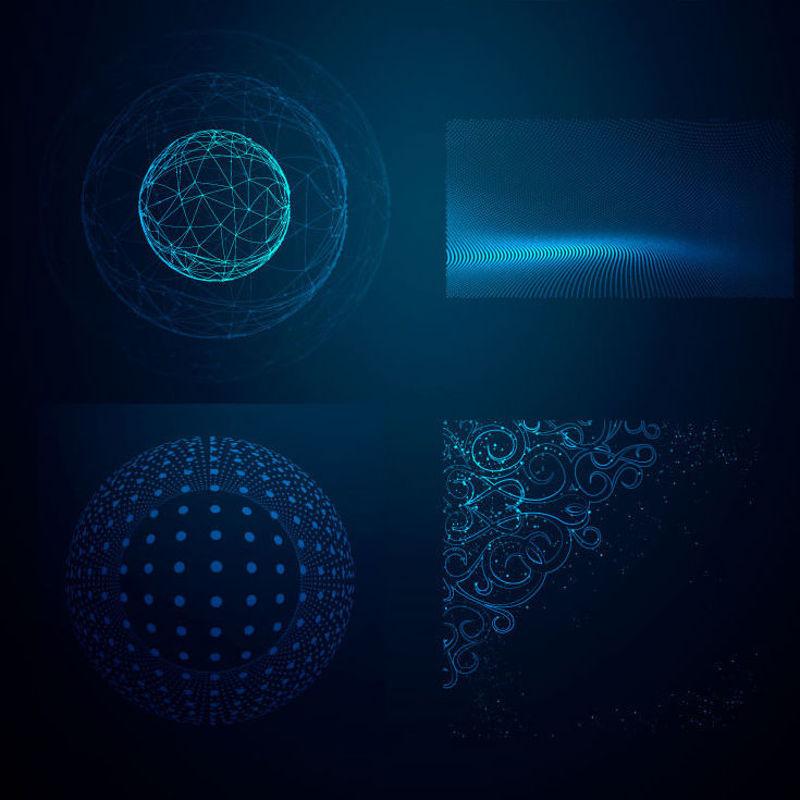 Scientific Dot Line Graphic Background 1 AI Vector