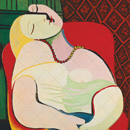 """Painting """"The Dream(1932)"""" by Picasso"""