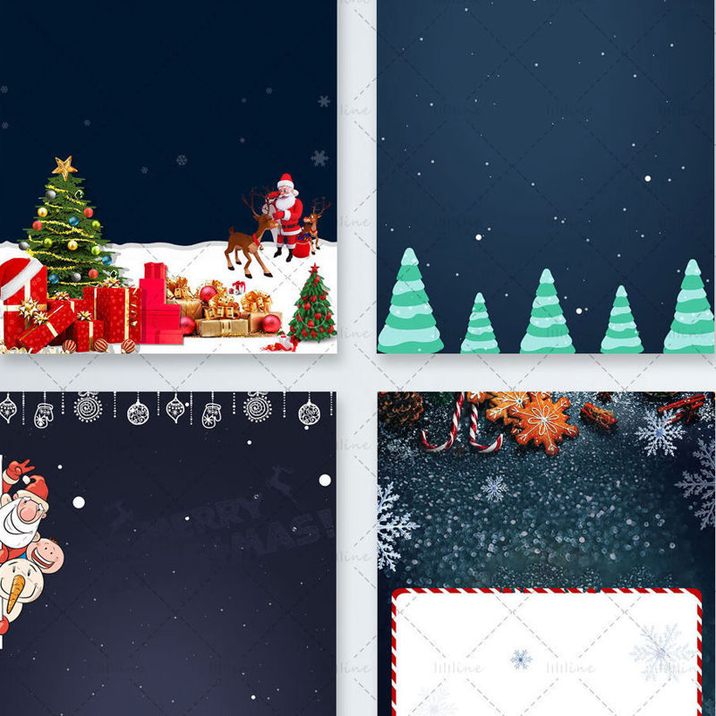 Christmas Background psd (4 files)