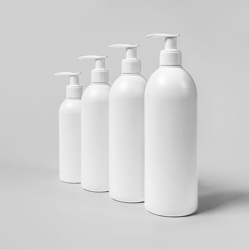 Cosmetic Mock up Four Bottles
