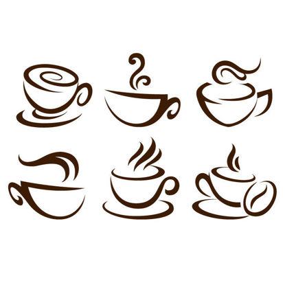 6 Coffee Design Icons AI vector