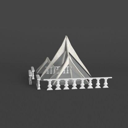 Taquan outdoor landscape glass decoration 3D model