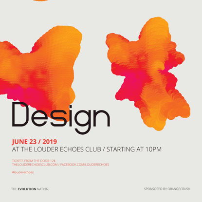 Abstract orange color design poster template