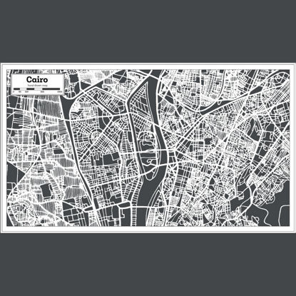 Hand Drawing Cairo Map AI