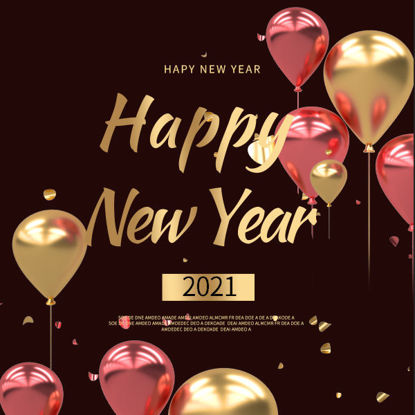 Happy New Year Balloon Poster Template Background