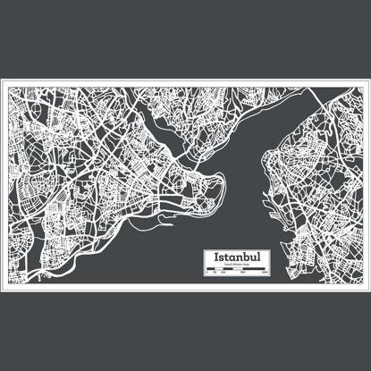 Hand Drawn Istanbul Map AI Vector