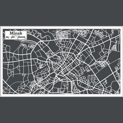 Hand Drawn Minsk Map AI Vector