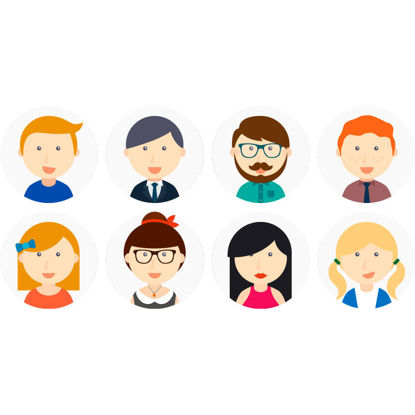 8 People Icons AI vector