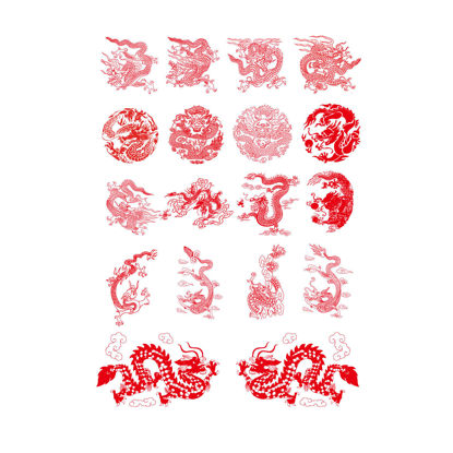 Chinese Dragons Graphic AI Vector
