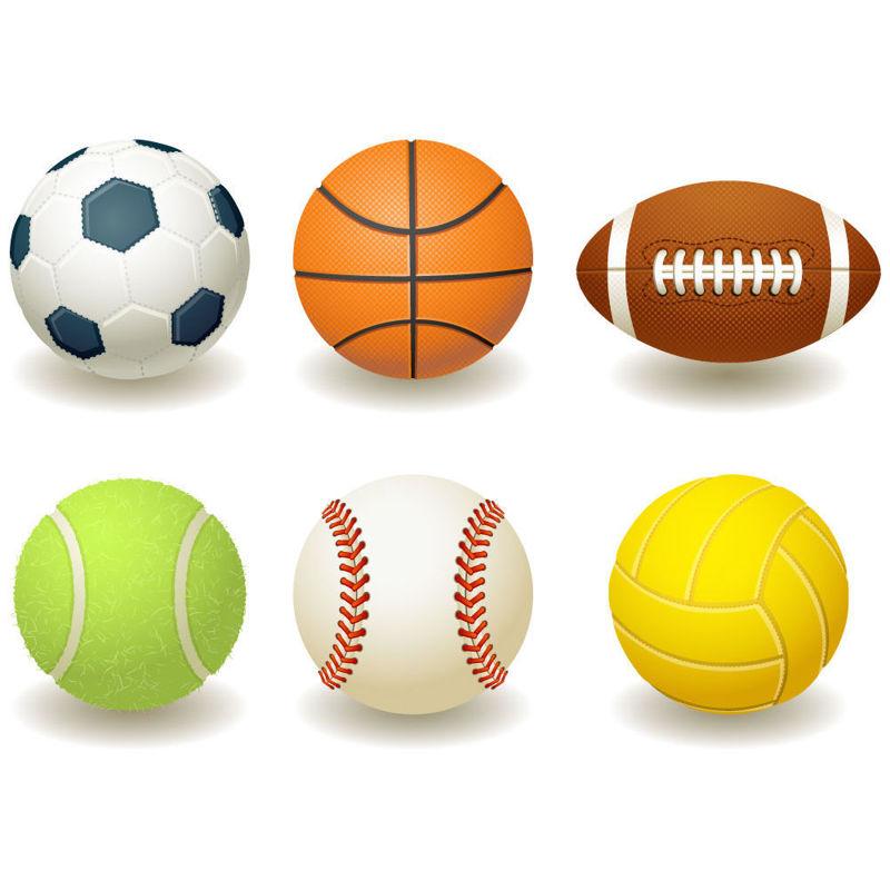 6 Photorealistic Balls Graphic AI Vector