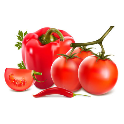 Photorealistic Red Vegetables Graphic Collection AI Vector