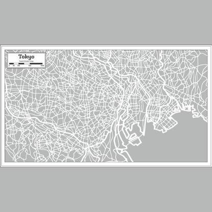 City Hand Drawing Tokyo Map AI Vector