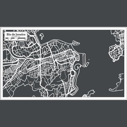 Rio De Janeiro Hand Drawing Map AI Vector
