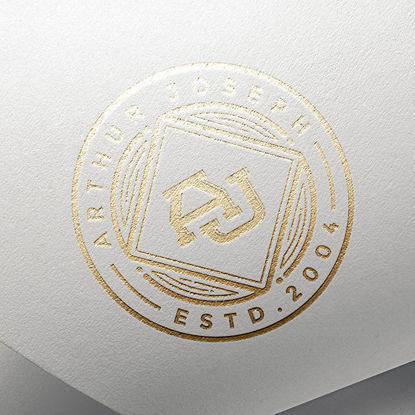 Gold bronzing logo mockup on paper