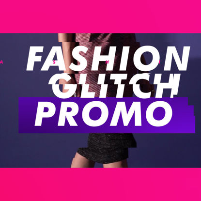 Fashion Glitch Promo AE Template