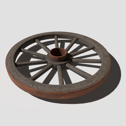 Cart Wheel 3d model