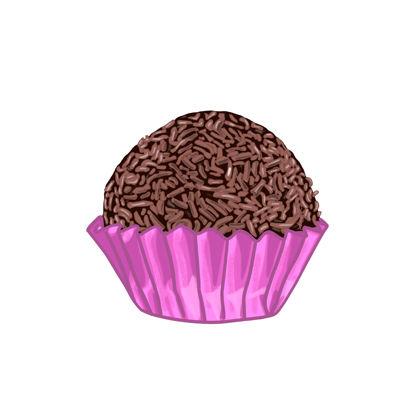 Chocolate truffle/brigadeiro