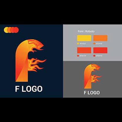 F Logo inspiration Template Design