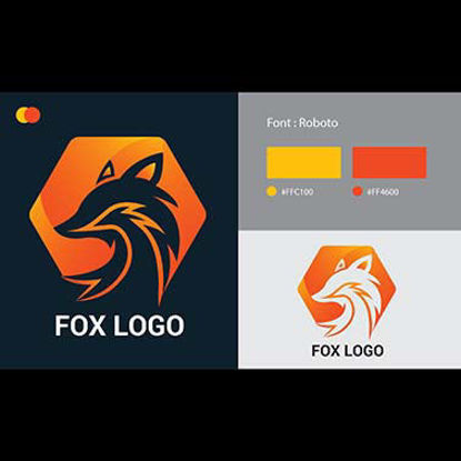 Fox Logo Collection Different Femplates
