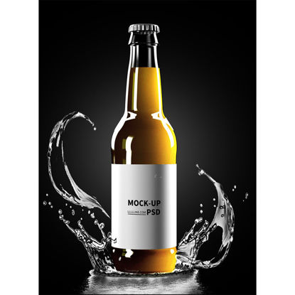 Beer packaging mockup in water